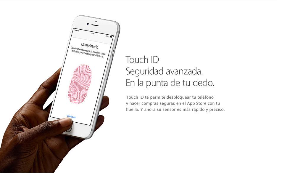 Touch ID Seguridad avanzada