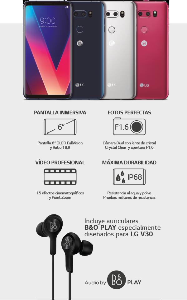 Características LG V30