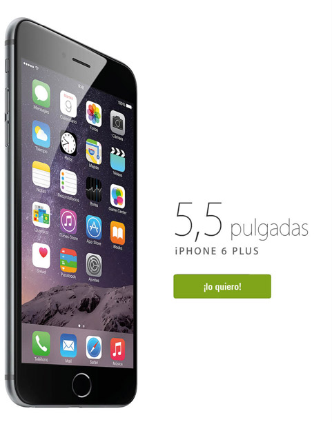 iPhone 6 Plus - 5,5 pulgadas