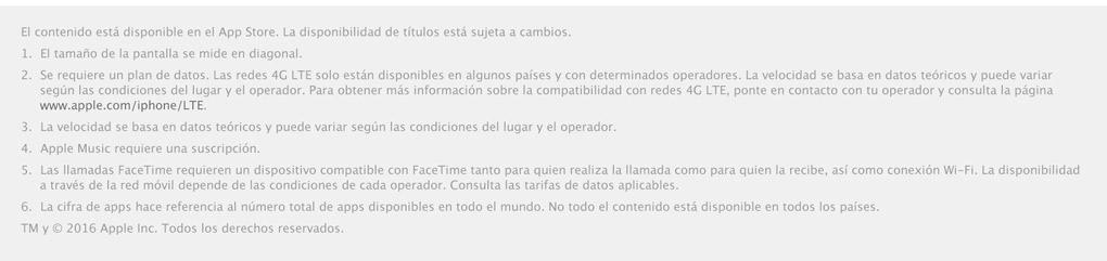 legales iPhone SE